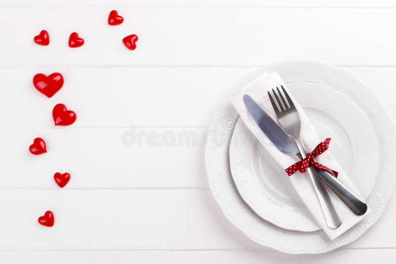 Download Romantic table setting stock image. Image of cutlery - 83720181