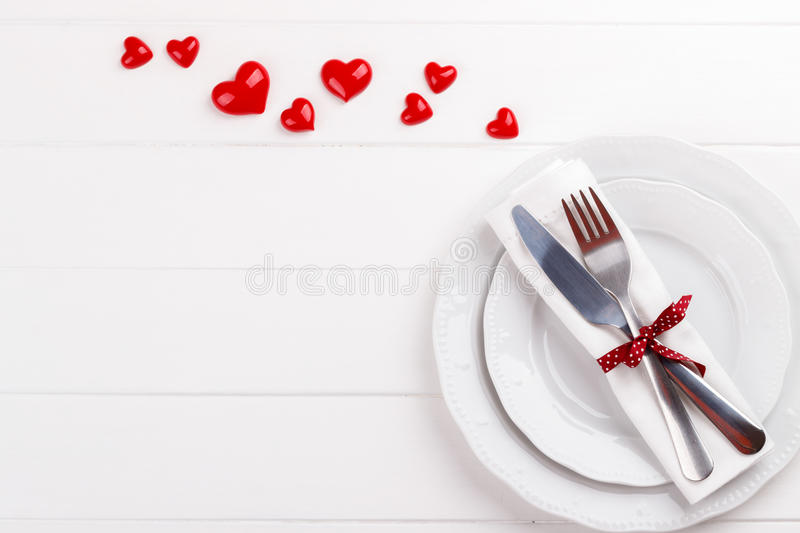 Download Romantic Table Setting Stock Photo - Image: 83720476