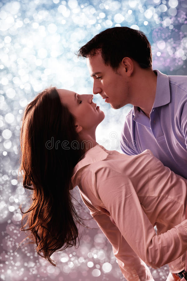 Download Romantic tender couple stock photo. Image of brunette - 24125496