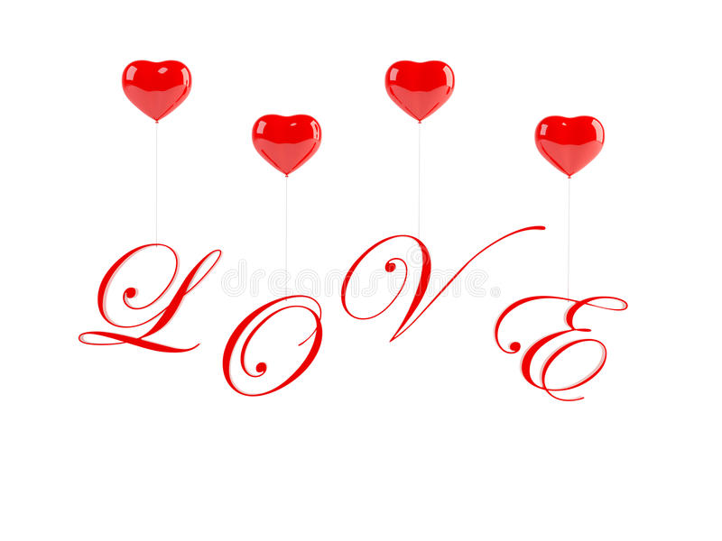 Download Romantic Text With Balloons Stock Illustration - Illustration of backdrop, gift: 12671246