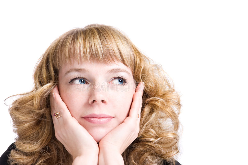 Download Romantic Thoughtful Woman Portrait Stock Photo - Image: 4347360