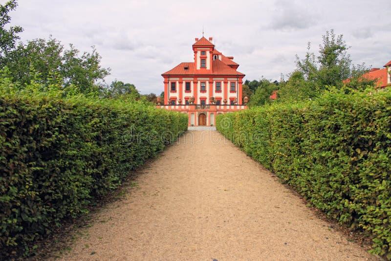 Download Romantic Troja Castle stock image. Image of europe, excursion - 28357857