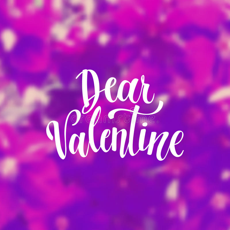 Romantic Typographic poster. Romantic Valentine day card. Typographic poster with hand drawn quote. Lettering on abstract background royalty free illustration