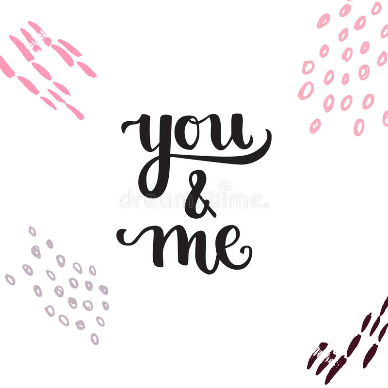 Romantic Typographic poster. Romantic Valentine day card. Typographic poster with hand drawn quote. Lettering on abstract background vector illustration