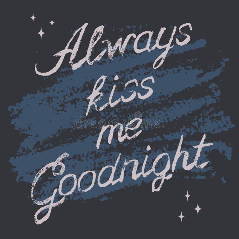 Romantic typography poster vector illustration
