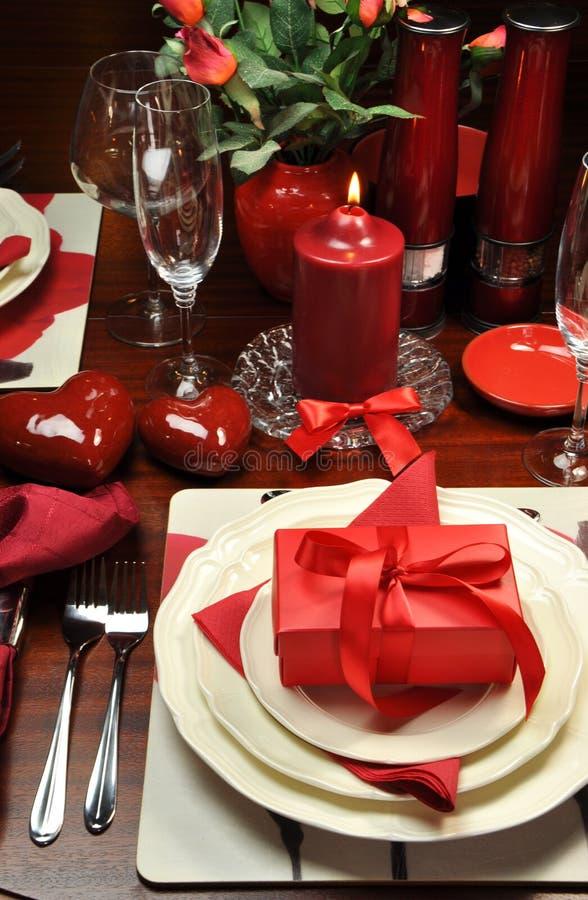 Romantic Room Setting: Romantic Valentine Dinner For Two (Vertical) Stock Image