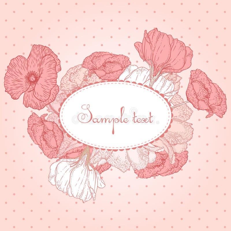 Romantic vector card stock illustration