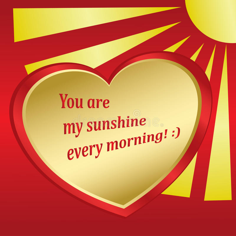 Download Romantic Vector Card With Sun And Heart Stock Vector - Image: 21305575
