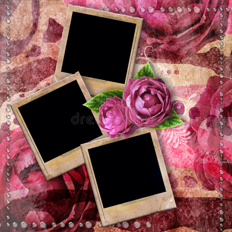 Romantic Vintage Background With Frames Stock Illustration ...