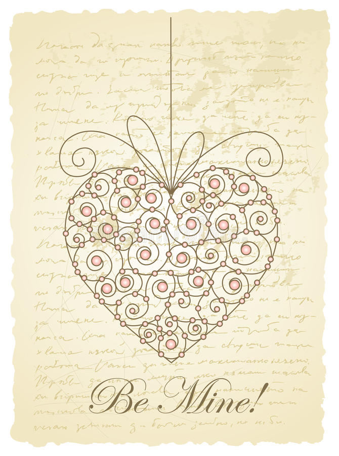 Download Romantic vintage card stock vector. Illustration of drawing - 26629370
