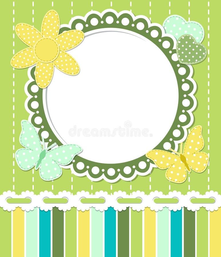 Romantic vintage frame vector illustration