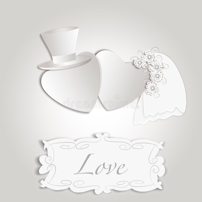 Romantic vintage style wedding invitation royalty free stock photography