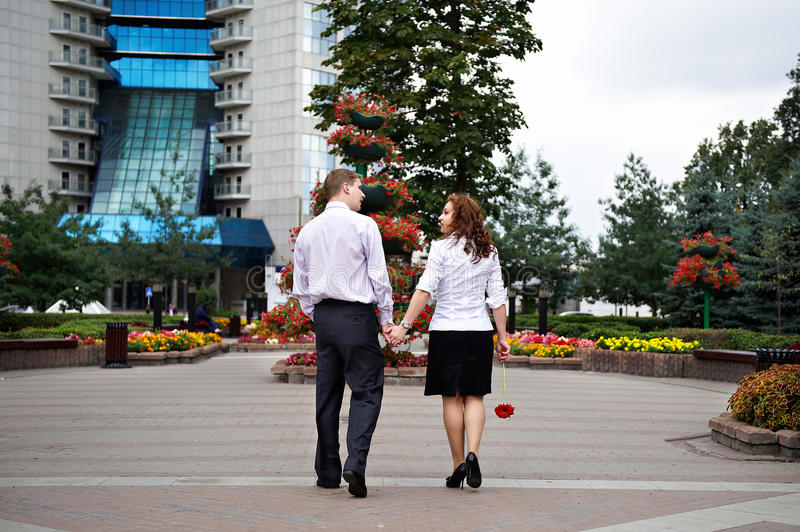 Download Romantic walk on a date stock image. Image of couple - 18822395