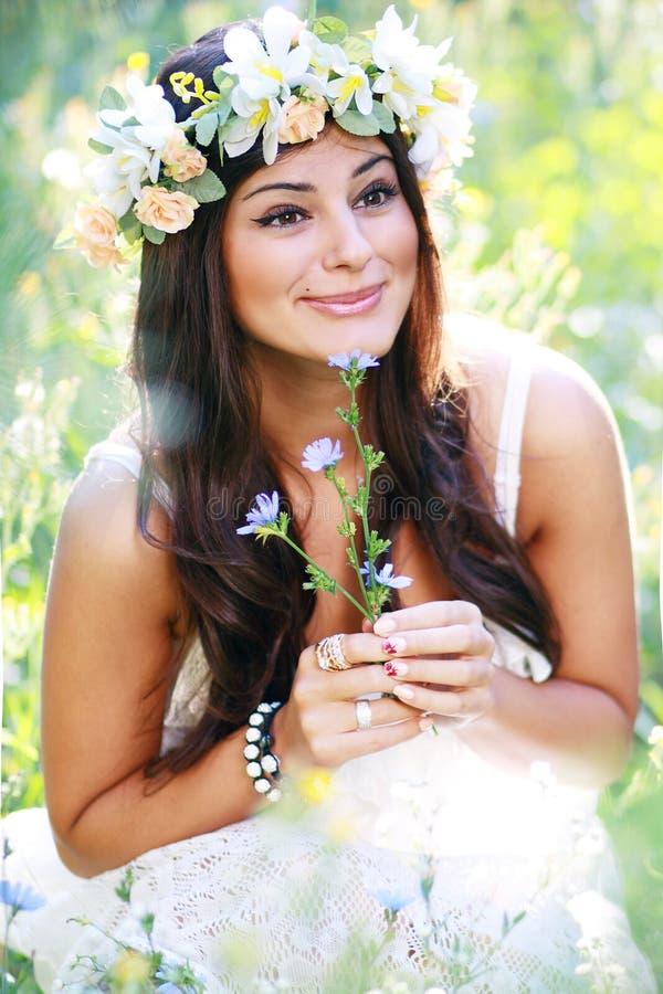 Romantic woman stock photo