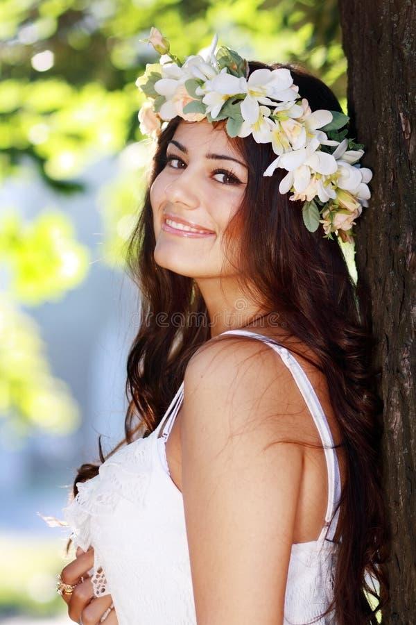Romantic woman stock image