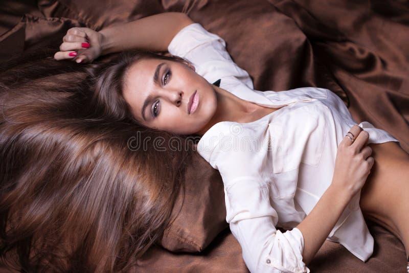 Romantic woman posing royalty free stock photo