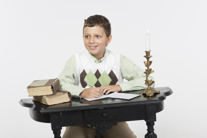 Download Romantic writer stock image. Image of writer, candle - 33200195