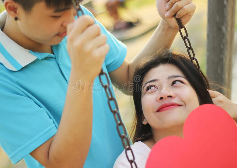 Romantic Young Couple In Love royalty free stock image