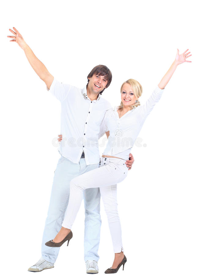 Romantic Young Couple Standing Royalty Free Stock Photography
