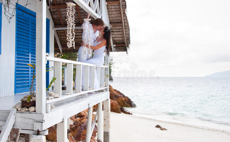 Download Romantic Young Couple In Tropical Beach House Stock Image - Image: 26856203