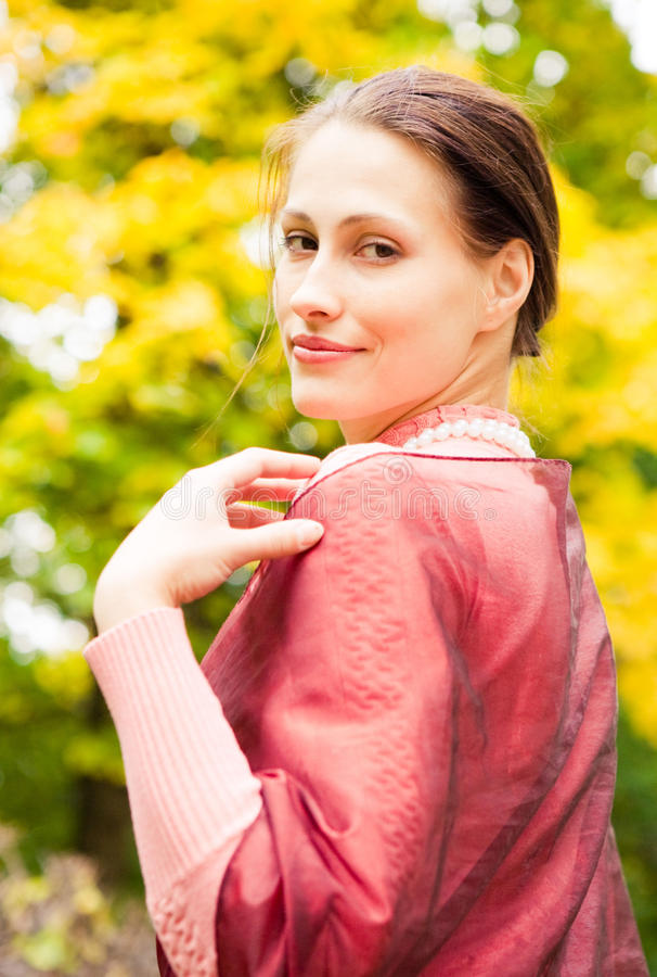 Romantic young lady royalty free stock image