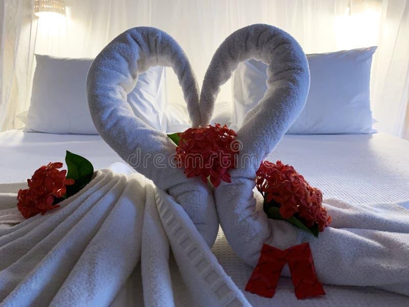 Romanticism symbol. On honeymoon decoration royalty free stock image