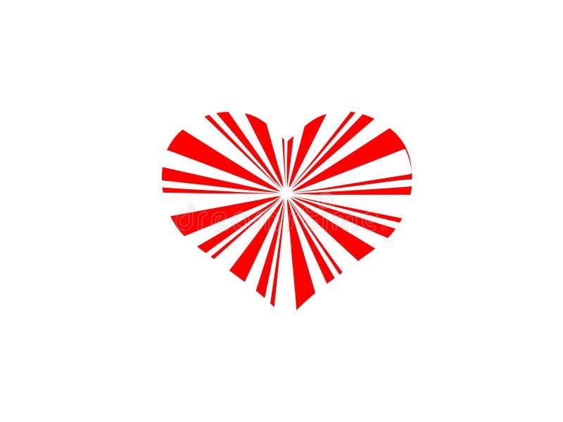 Romantico romanzesco del cuore dell'estratto bianco rosso del fondo illustrazione vettoriale