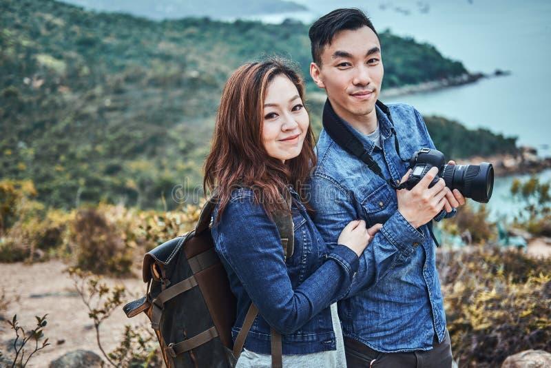 Romantics novo para apreciar a natureza bonita fotografia de stock
