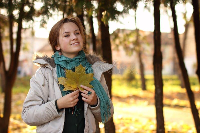 Romantik des Herbstes stockfoto