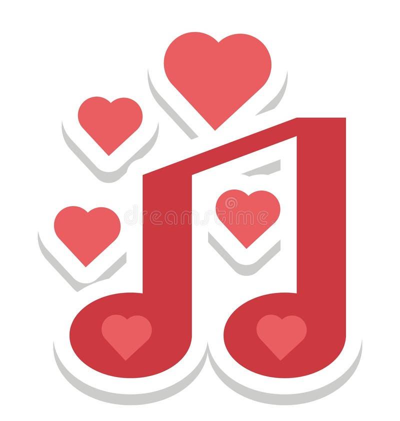 Romantique, icône de vecteur de chanson editable illustration libre de droits