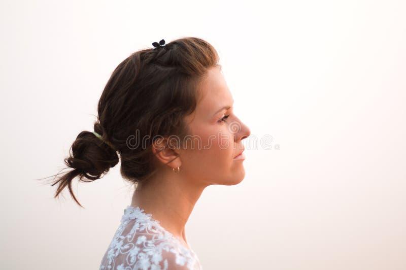 Romantisch bruidStrand stock fotografie