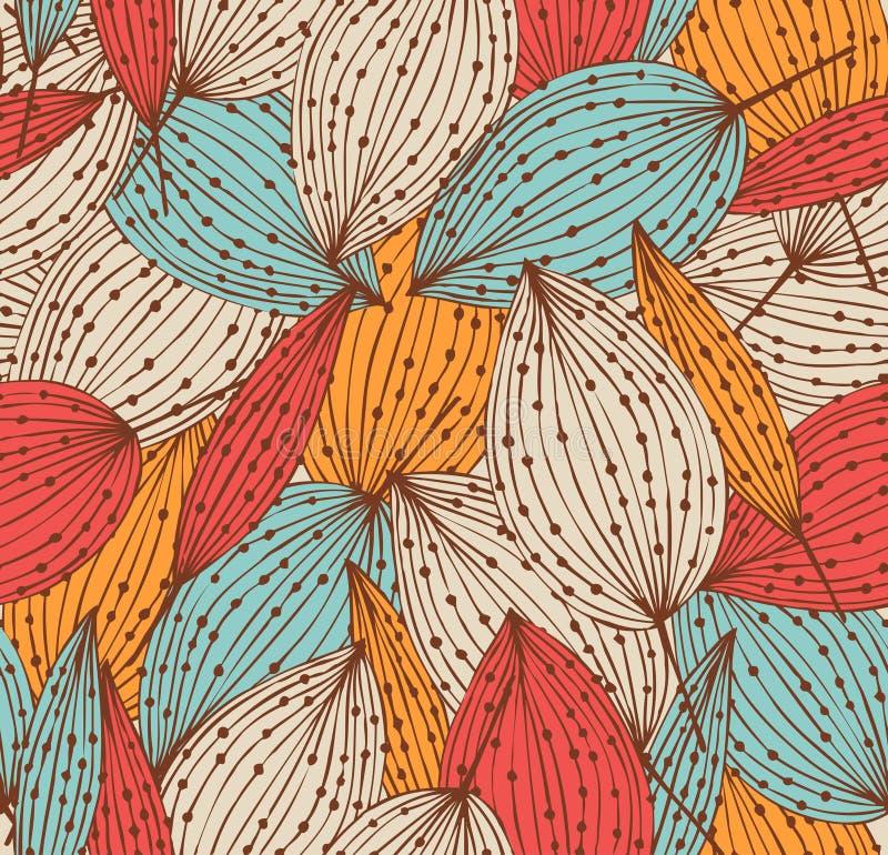 Romantisch de herfst bloemenpatroon stock illustratie