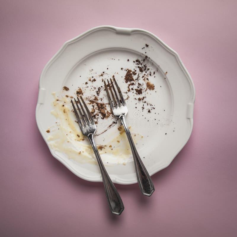Romantisch dessert voor twee stock fotografie