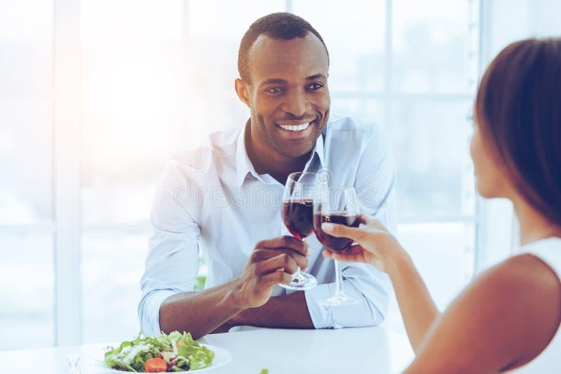 Romantisch diner stock afbeeldingen