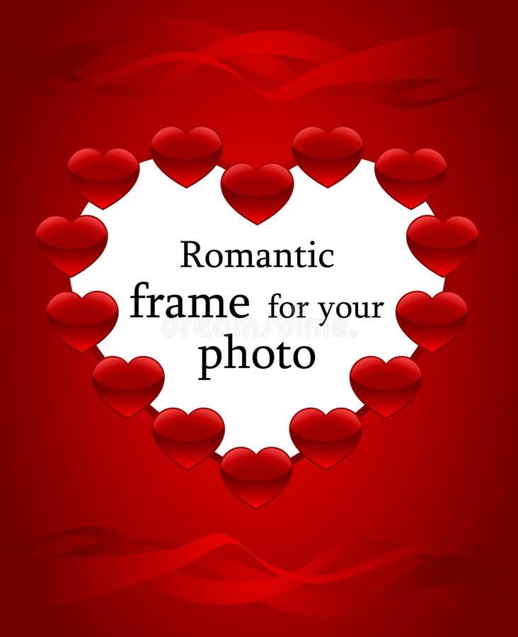 Romantisch frame voor foto royalty-vrije illustratie