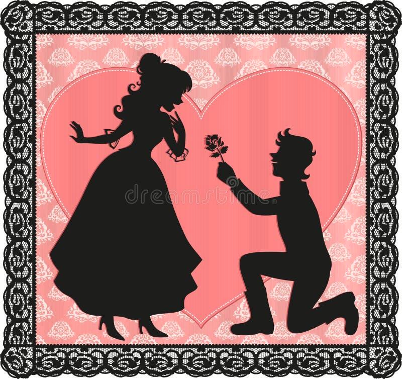 Romantisch Gebaar Royalty-vrije Stock Afbeeldingen