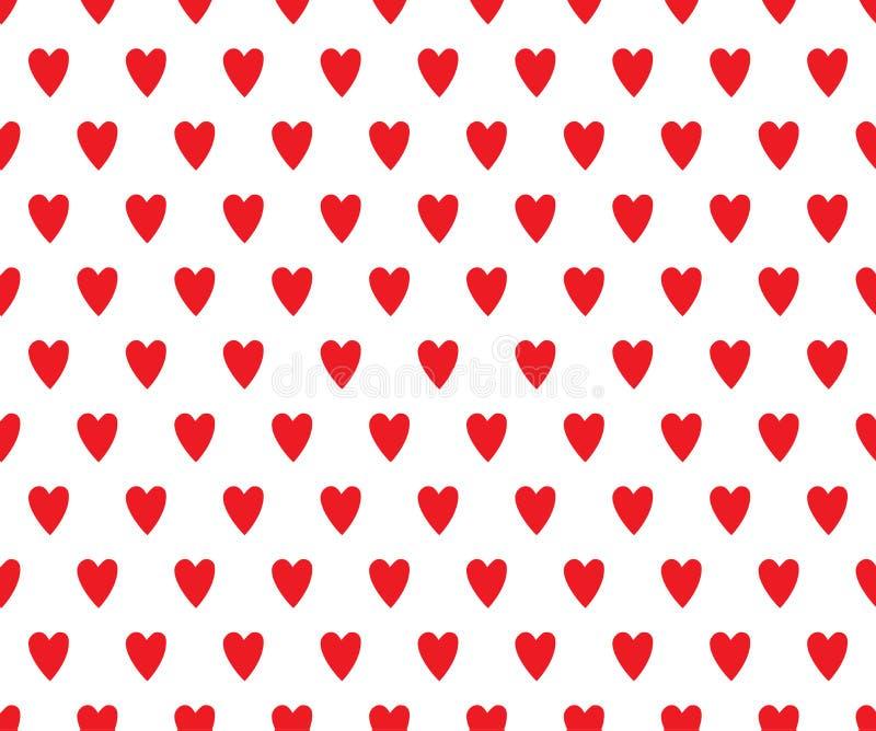 Romantisch hartenpatroon royalty-vrije illustratie