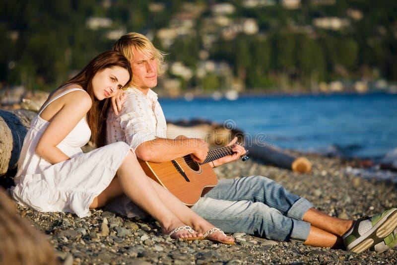 Romantisch Kaukasisch paar royalty-vrije stock foto's