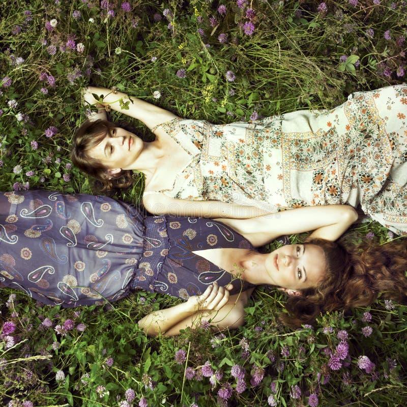 Romantisch meisje twee royalty-vrije stock afbeelding