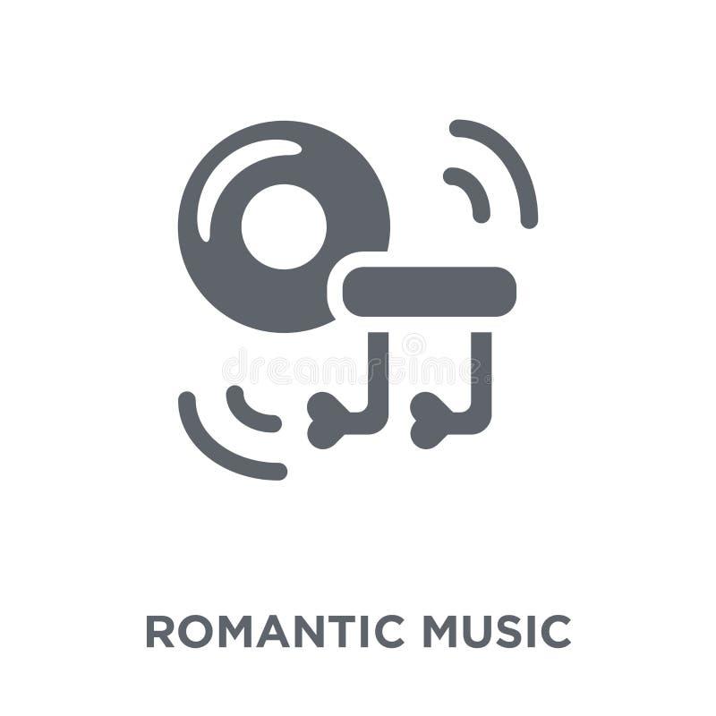 Romantisch muziekpictogram van Huwelijk en liefdeinzameling stock illustratie