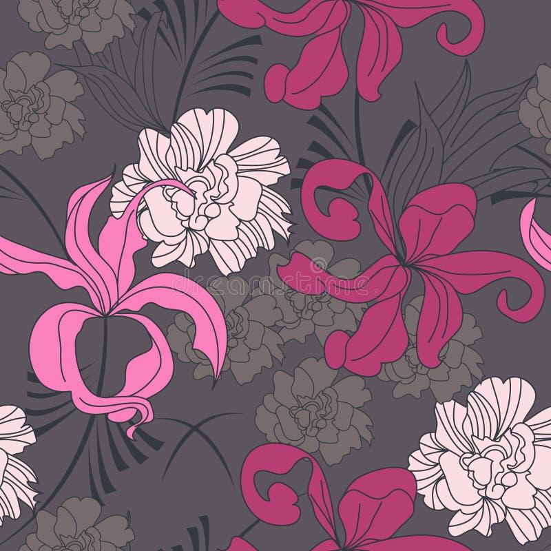 Romantisch naadloos patroon vector illustratie