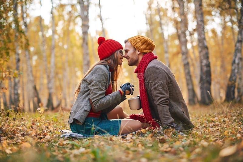 Romantisch ogenblik stock fotografie