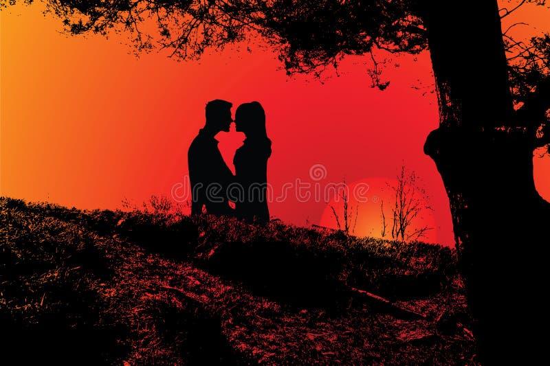 Romantisch paar vector illustratie