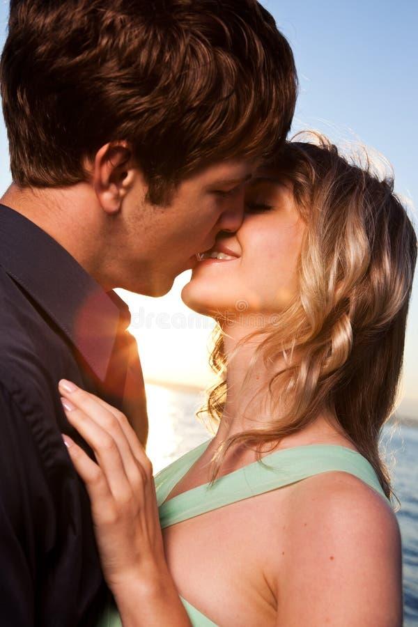 Romantisch paar in liefde stock foto's