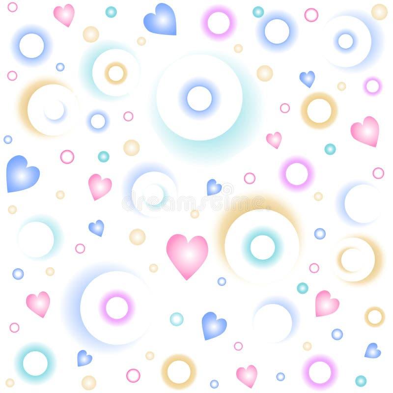 Romantisch patroon stock illustratie
