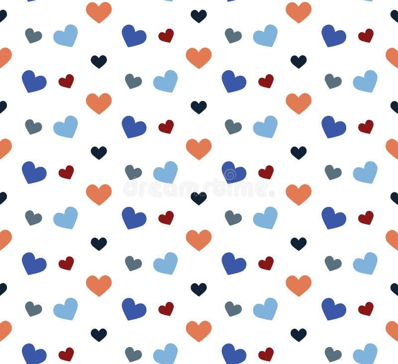 Romantisch patroon met harten Vector illustratie royalty-vrije illustratie