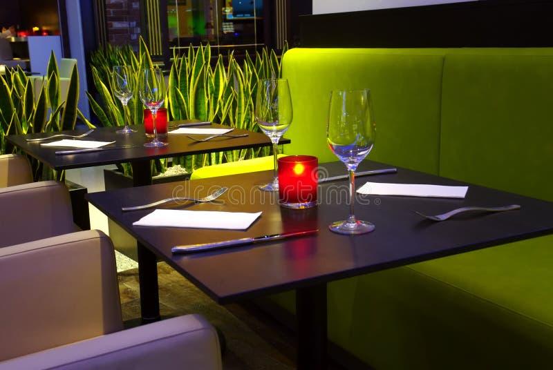 Romantisch restaurant stock foto's