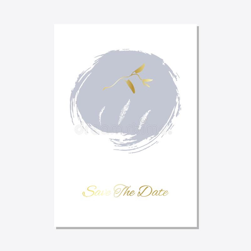 Romantisch teder bloemenontwerp voor huwelijksuitnodiging vector illustratie