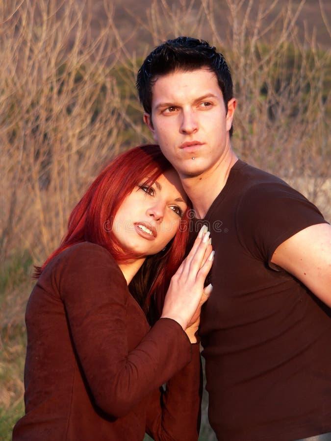 Romantisch tienerpaar stock afbeelding
