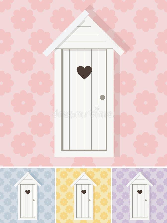 Romantisch toilet vector illustratie